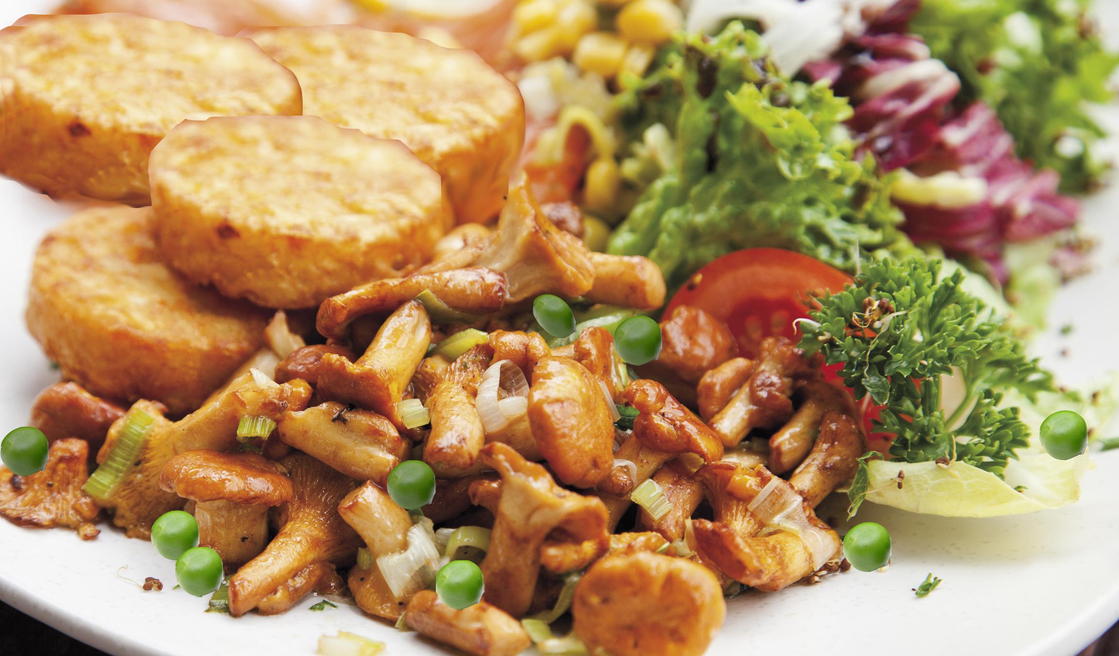 Hähnchengeschnetzeltes zu Kartoffelplätzchen